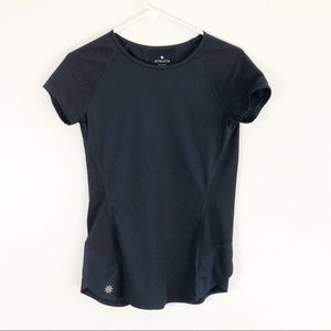 Athleta Navy Blue Workout Short Sleeve Shirt